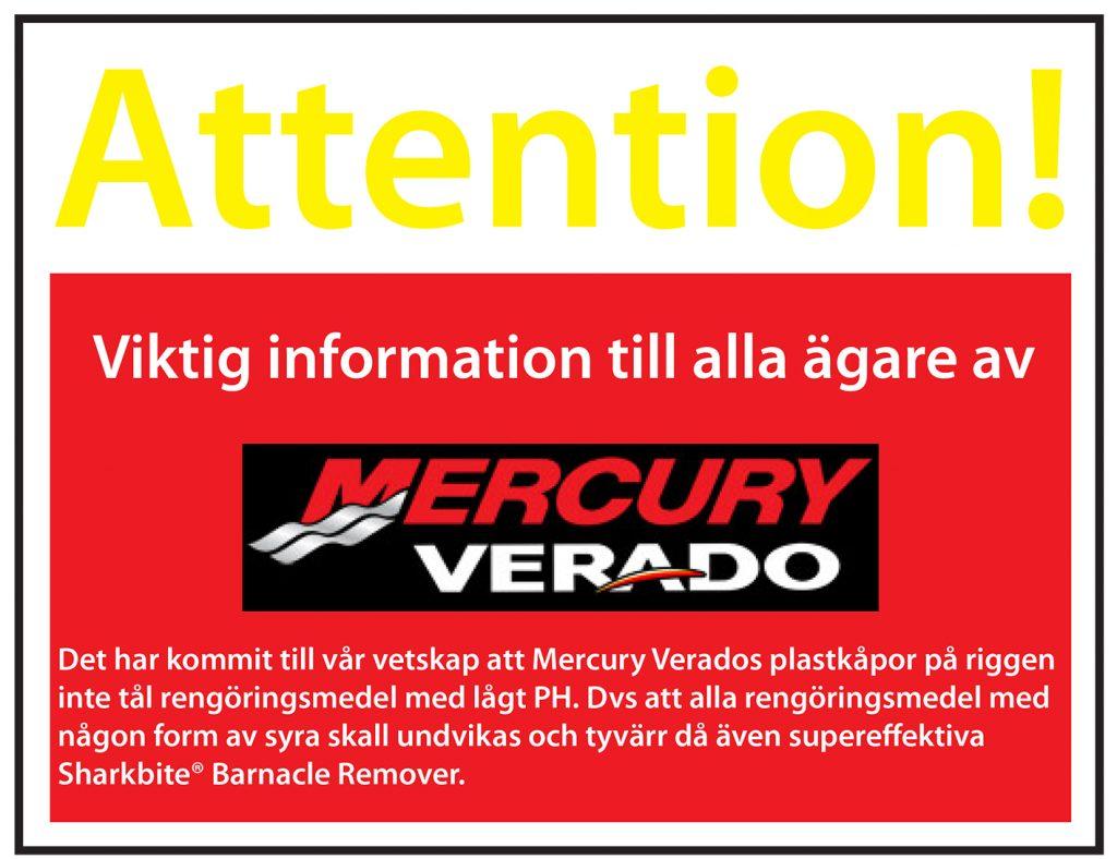 Ang. Sharkbite Barnacle Remover på Mercury Verados plastkåpor. dc6b5da8e3789